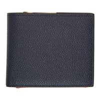 Thom Browne Navy Fold Out Coin Purse Wallet