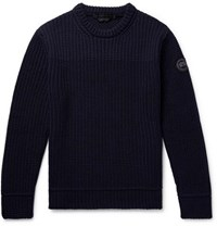 Canada Goose Galloway Merino Wool Sweater Navy