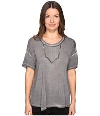 The Kooples Wave Dyeing Jersey Chain Short Sleeve Tee Grey Women's T Shirt Gray