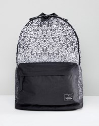 Asos Design Backpack In Ombre Print Black White