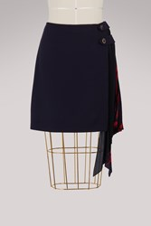 Givenchy Tiger Mini Skirt Navy Red