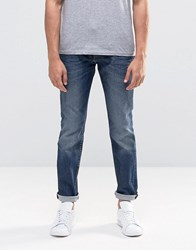 Lee Rider Slim Jeans Blue Gloss Blue Gloss