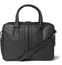 Tod's Large Cross Grain Leather Briefcase Black