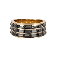 Aurora Baguette Ring Gold Yellow