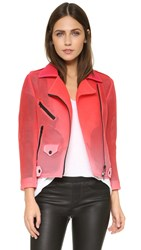 Rebecca Minkoff Rm Active Wes Moto Jacket Rose Pink Ombre