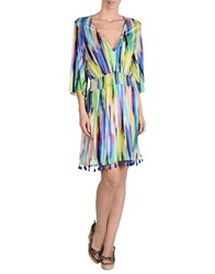Milly Cabana Cover Ups Acid Green