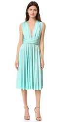 Twobirds Tea Length Convertible Dress Paradise Turquoise