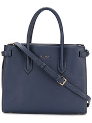 Furla Squared Crossbody Bag Leather Blue