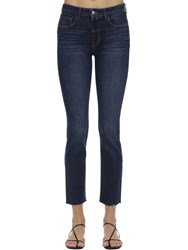 L'agence Luna High Rise Straight Jeans Blue