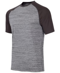 Greg Norman For Tasso Elba Men's Heathered Raglan Performance T Shirt Medium Grey Heather