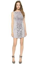 Dsquared Feathered Paillette Dress Grey