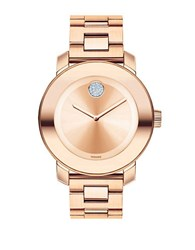 Movado Unisex Round Rose Goldtone Stainless Steel Watch