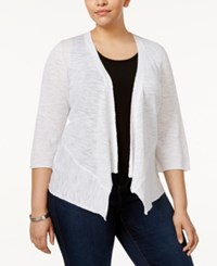 Alfani Plus Size Open Front Cardigan Only At Macy's Bright White