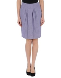 Peserico Sign Knee Length Skirts Lilac