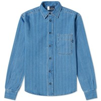 Bleu De Paname One Pocket Denim Shirt Blue