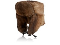 Crown Cap Men's Fur Trapper Hat Brown Nude