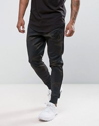 Sik Silk Siksilk Poly Joggers In Camo Skinny Fit Camo Green
