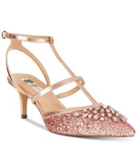 0446c9f8ede Inc International Concepts Carma Evening Kitten Heel Pumps Created For  Macy s Women s Shoes Rose Gold