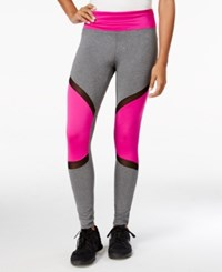 Energie Active Juniors' Liv Colorblocked Leggings Purple Combo