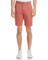 Paige Colored Twill Chino Shorts Vintage Guava