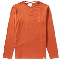 Norse Projects Long Sleeve James Dry Cotton Tee Orange