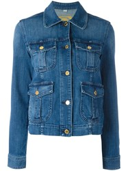 Michael Kors Multiple Pockets Denim Jacket Blue