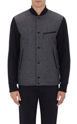 Rag And Bone Men's Irving Wool Blend Felt Jacket Dark Grey