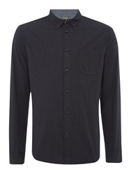 Linea Hunt Long Sleeve Gingham Shirt Charcoal