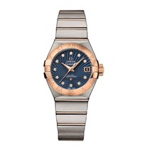 Omega Constellation Co Axial Watch Unisex Blue