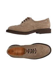 Tricker's Lace Up Shoes Grey