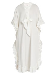 See By Chloe Ruffle Trimmed Cotton Blend Dress White