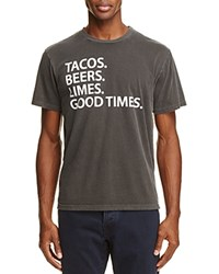 Chaser Tacos Beers Limes Graphic Tee Vintage Black