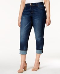 Inc International Concepts Plus Size Cropped Straight Leg Jeans Only At Macy's Indigo