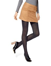 Hue Ribbed Sweater Tights Black