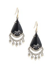 Alexis Bittar Lace Chandelier Drop Earrings Black