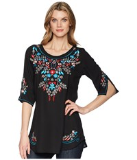 Scully Bara Embroidered Blouse Black Clothing