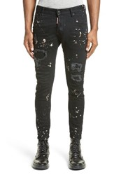 Men's Dsquared2 Tidy Biker Ripped Acid Wash Jeans