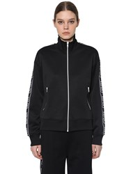 Kenzo Logo Side Band Tech Track Jacket Black