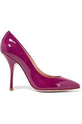 Giuseppe Zanotti Patent Leather Pumps Purple