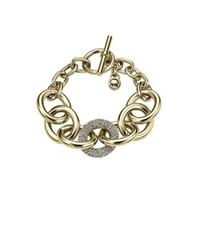 Michael Kors Pave Chain Link Toggle Bracelet Gold