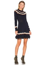 Red Valentino Fit And Flare Sweater Dress Royal