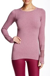 Alo Yoga North Star Seamless Long Sleeve Tee Red