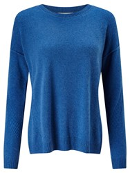 John Lewis Collection Weekend By Drop Sleeve Cashmere Jumper Blue