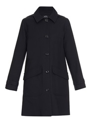 A.P.C. Normandie Cotton And Wool Blend Coat