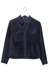 Suede Western Jacket By Boutique Navy Blue