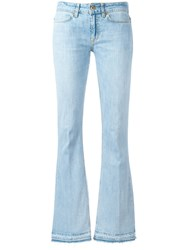 Dondup Flared Mid Rise Jeans Blue