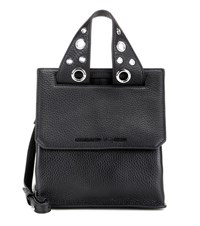 Mcq By Alexander Mcqueen Mini Ruin Leather Shoulder Bag Black