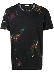Valentino Firework Print T Shirt Men Cotton M Black