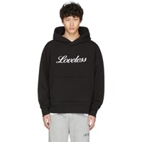 Amiri Black Loveless Embroidered Hoodie