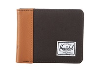 Herschel Edward Black Tan Bi Fold Wallet